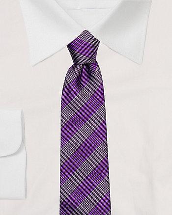 Silk Check Tie