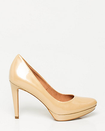 Patent Leather Almond Toe Pump