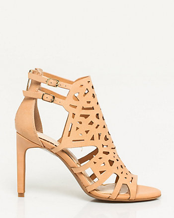 Leather Cutout Sandal