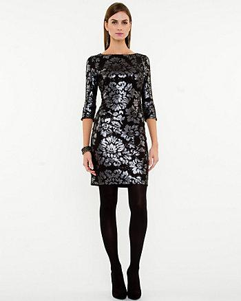 Matte Sequin Knit Dress
