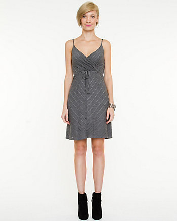 Pointelle V-Neck Dress