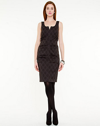 Jacquard Fitted Cocktail Dress