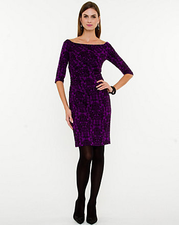 Jacquard Off-the-Shoulder Dress