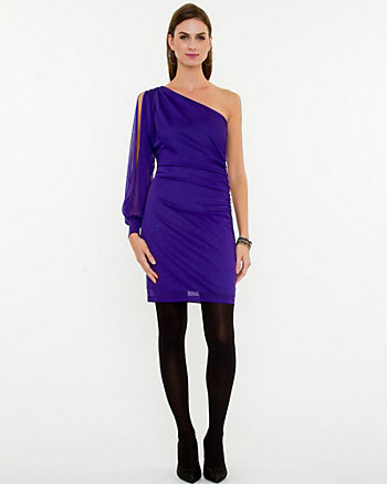 Sparkle Knit One Sleeve Cocktail Dress