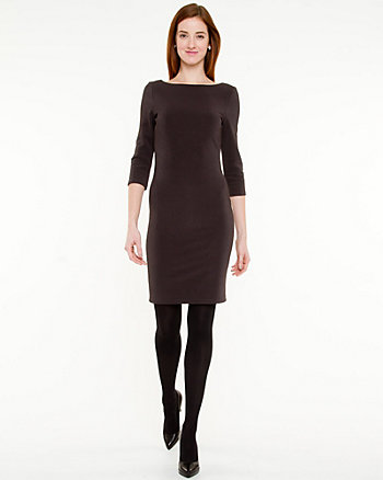 Ottoman Rib Knit Dress