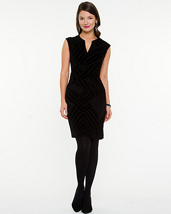 Splice Stripe Fitted Dress