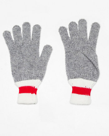 Wool Blend Colour Block Glove