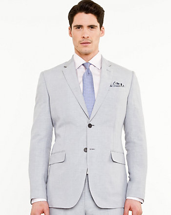 Linen Blend Contemporary Fit Blazer