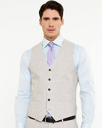 Linen Contemporary Fit Vest
