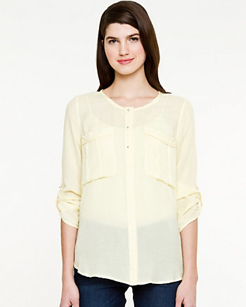 Voile 3/4 Sleeve Blouse