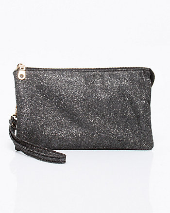 Metallic Wristlet Clutch