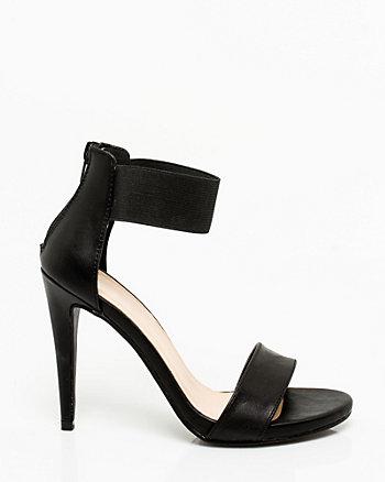 Sandale à large bride de cheville élastique