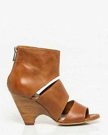 Faux Leather Cutout Shoe