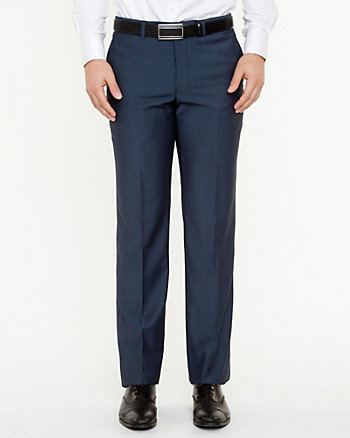 Two Tone Piqué Straight Leg Pant
