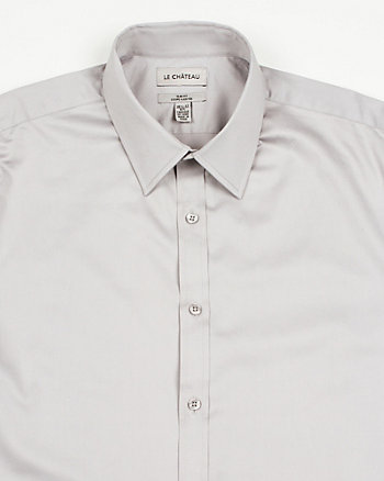 Stretch Sateen Slim Fit Dress Shirt