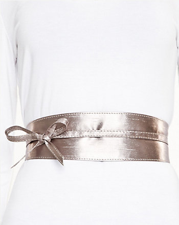 Metallic Obi Belt