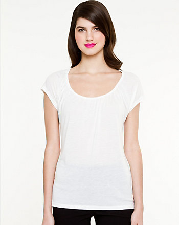 Essential Jersey Ruched T-Shirt