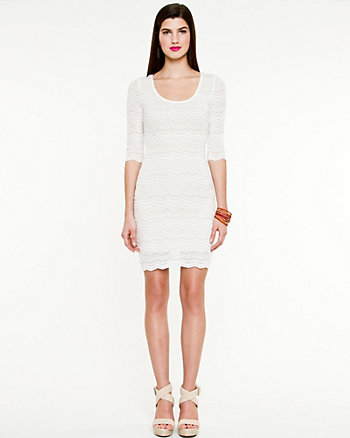 Lace 3/4 Sleeve Dress