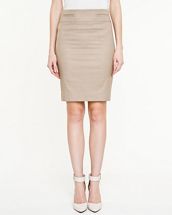 Linen Blend Pencil Skirt