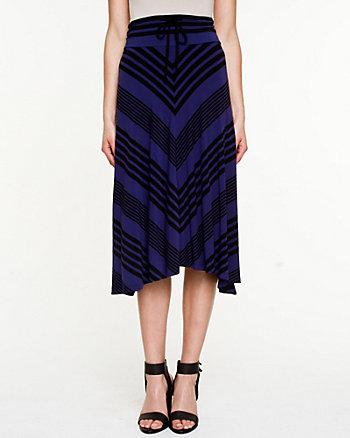 Chevron Stripe Jersey Skirt