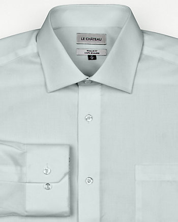 Cotton Twill Italian Collar Shirt