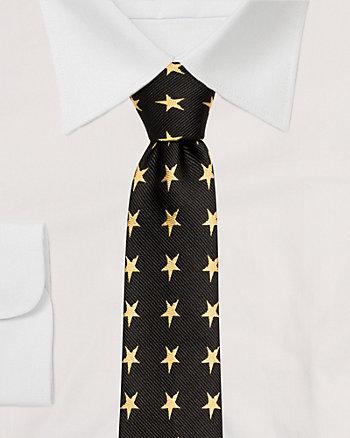 Star Print Microfibre Tie