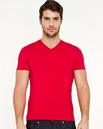 Stretch Jersey V-Neck T-Shirt