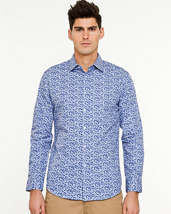 Floral Cotton  Tailored Fit Shirt