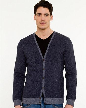 Cardigan de tricot à fil flammé