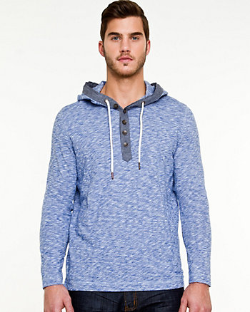 Slub Cotton Hooded Top