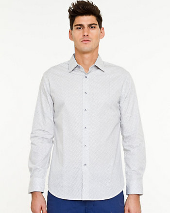 Printed Cotton Tailored Fit Shirt