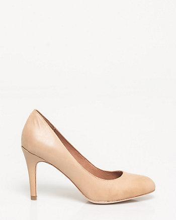 Leather Almond Toe Pump