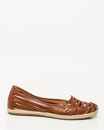 Leather Almond-toe Shoe