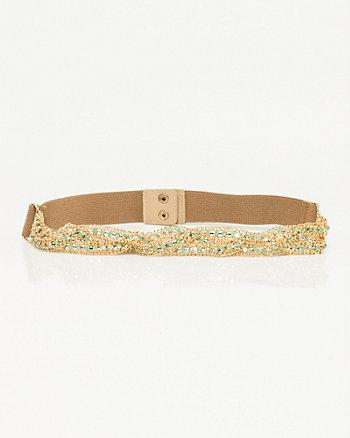 Gem Encrusted Elastic Belt