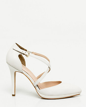 Leather Strappy Pump