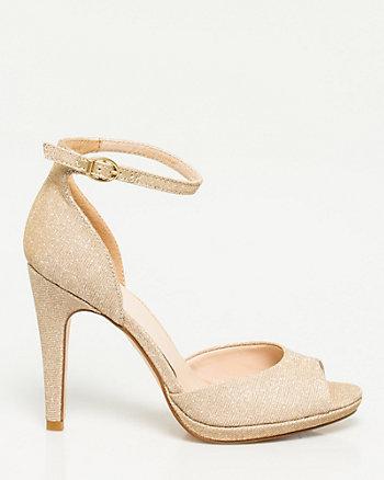 Glitter Peep Toe Shoe
