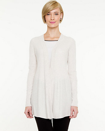 Knit Open Front Throwover