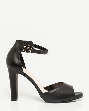 Leather Ankle Strap Shoe