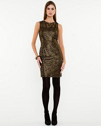 Lace Illusion Shift Dress