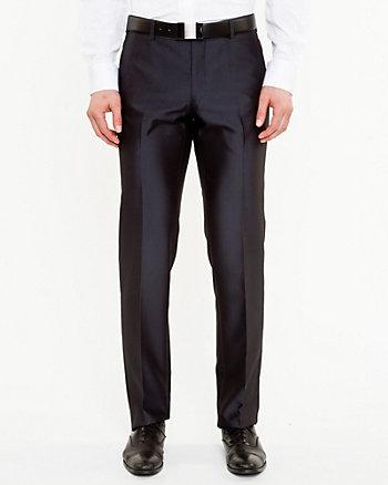 Pantalon à jambe droite en chevron