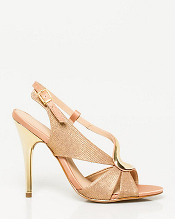 Brazilian-Made Glitter Satin Sandal