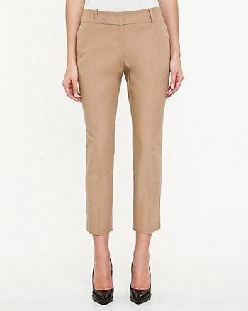 Pantalon 7/8 à jambe étroite en armure double