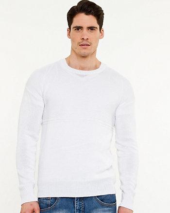 Linen Blend Crew Neck Sweater