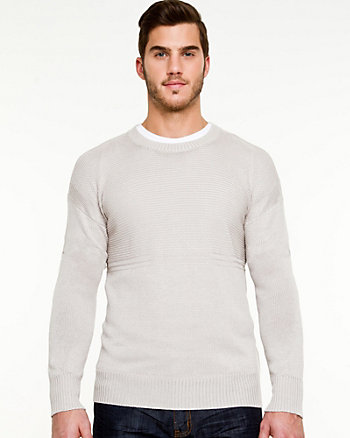 Linen Blend Crew Neck Sweater
