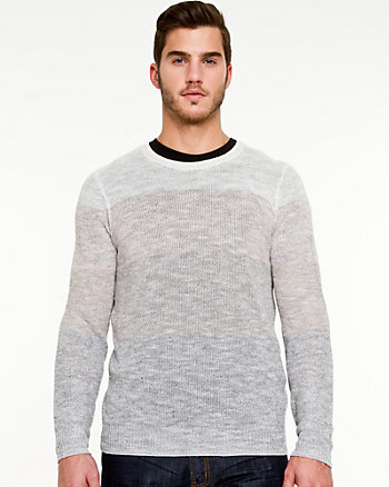 Linen Blend Semi-Fitted Sweater