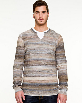 Tonal Knit Semi-Fitted Sweater