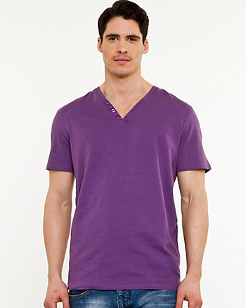 Slub Cotton Henley Tee