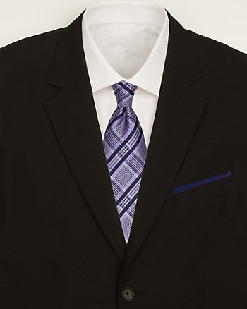 Plaid Tie & Pocket Square Set
