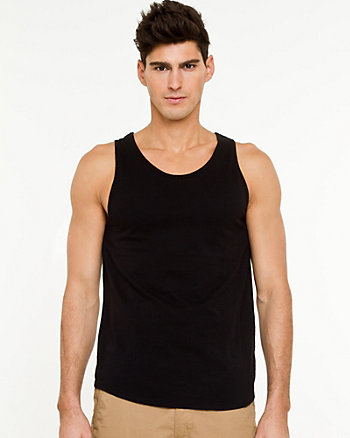 Knit Crew Neck Tank Top