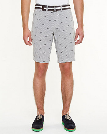 Bird Print Cotton Short
